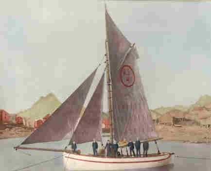 Båten som brødrene Paulsen og brødrene Christiansen eide samen. Utlånt fra Christensenfamilien.