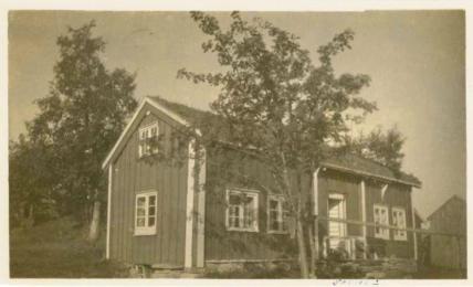 Huset Klubben på Aspa hvor Ole Christian vokste opp.