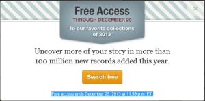 Ancestry free 29 des 2013