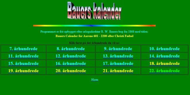 Bauers kalender forside