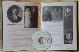 Slektsbok/familiehistoriebok med CD